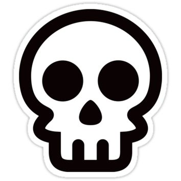 Skull logo - black and white by Mhea