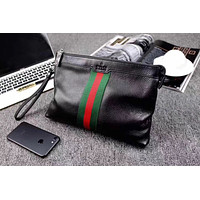 GUCCI MEN'S 2018 NEW STYLE LEATHER HAND BAG