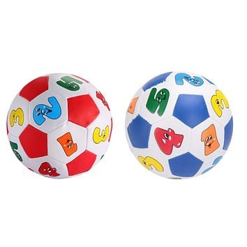 Baby Toys Baby Kids Early Education Football Toys Alphabet Number Learning Ringing Rubber Ball