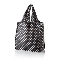 Reusable Shopping Tote in Black with Dots by Kate Spade New York - FINAL SALE