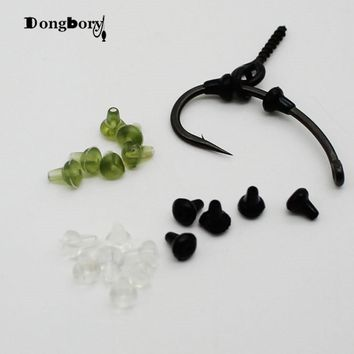 50PCS Hook Stops Beads Carp Fishing Accessories Stoper Clear Green Black Carp Fishing Hair Chod Ronnie Rig Pop UP Boilies Stop