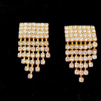 Vintage Rhinestone Shoe Clips with Dangles