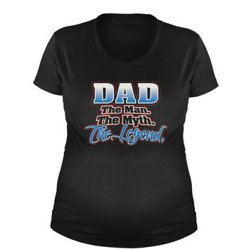 Dad - The Man, The Myth, Legend Maternity Pregnancy Scoop Neck T-Shirt