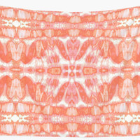 'Tie Dye Tangerine Twos' Wall Tapestry by Nina May