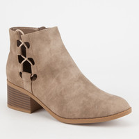 CITY CLASSIFIED Side Bungee Womens Booties | Boots + Booties
