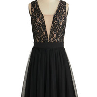 ModCloth Mid-length Sleeveless A-line Haute Headquarters Dress