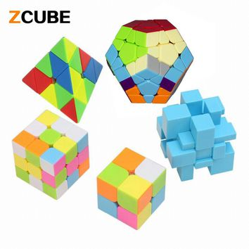 Zcube New 5PCS /Pack 2, 3 layers, Megaminx cube, Mirror, Pyraminx cube Professional Speed Magic Cube Stickerless Puzzle Cube -45