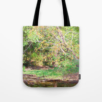 Hickory Ridge Pond Tote Bag by Theresa Campbell D'August Art