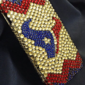 Houston Texans crystal phone case,  sports cases,  football team,  chevron bling case