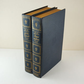 Pair of Vintage Books, Two Volumes of Guy de Maupassant's Short Stories, English Translation, Printed 1922 by Standard Book Company