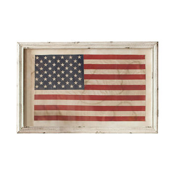 Freedom Rings Framed American Flag