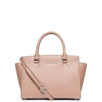 Selma Medium Saffiano Leather Satchel | Michael Kors