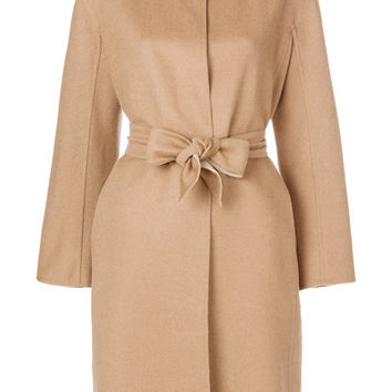 Max Mara Tied Front Coat - Farfetch