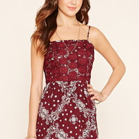 Embroidered Floral Cami Dress