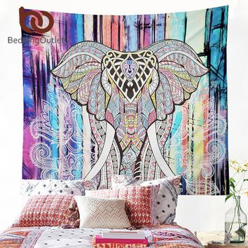 Wall Tapestries  Elephant Tapestry Colored Printed