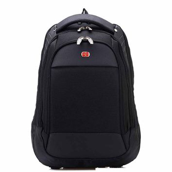 New Swiss Men Laptop Backpack laptop backpack hard men Notebook bag Travel Bag Men black Backpacks mochila