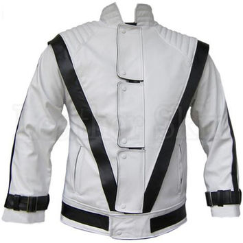 MEN MICHAEL JACKSON STYLE LEATHER JACKET