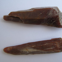 Natural Red Hematoid Quartz Crystal Points from the Himalayas