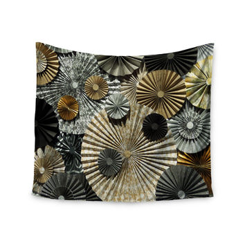 "Heidi Jennings ""All That Glitters"" Brown Glitter Wall Tapestry"