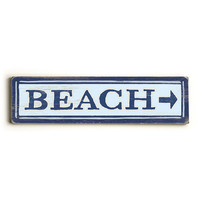 Personalized Beach Arrow Wood Sign