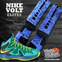freshswagg — Nike Volt Custom Elite Socks