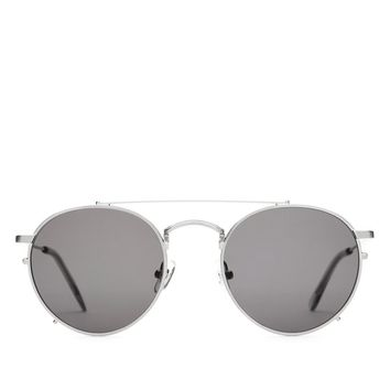 Crap Eyewear - The Tuff Safari - Brushed Silver & Smoke / Grey