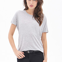 LOVE 21 Heathered Dolman Tee