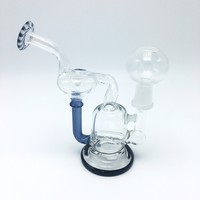 "6"" Glass Dab Rig w/ Filter & Beaker Base."