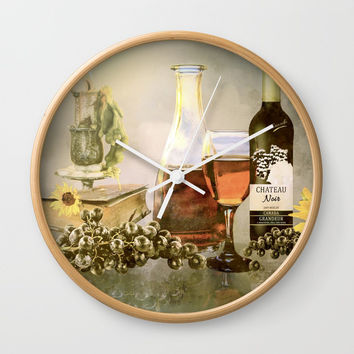 Dreams of Tuscany Wall Clock by Theresa Campbell D'August Art
