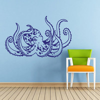 Octopus Wall Decal Tentacles Sprut Kraken Ocean Sea Animal Wall Decals Vinyl Sticker Interior Home Decor Vinyl Art Wall Decor Bedroom SV5831