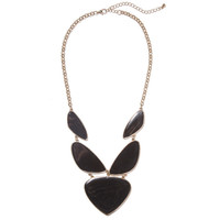 Angular Black Pebbles Bib | Jeweliq Statement Necklaces