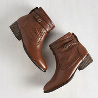 Vintage Inspired Sanctuary Bootie in Chestnut by Seychelles from ModCloth