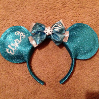 Elsa (from disneys frozen) inspired Mickey ears