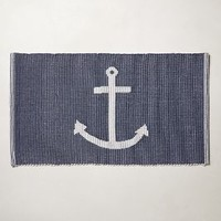 Sea Anchor Bathmat by Anthropologie in Navy Size: One Size Bath
