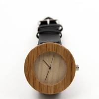 Leisure Leather Bamboo Wooden Watches
