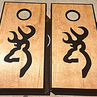 Browning Custom Cornhole Boards, Bags, and Add On Features