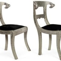 One Kings Lane - Kelly Wearstler: Modern Glamour - Ramâ??s Head Metal Chairs, Pair