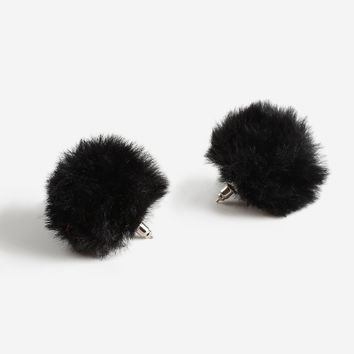 Faux Fur Stud Earrings - Jewelry - Bags & Accessories