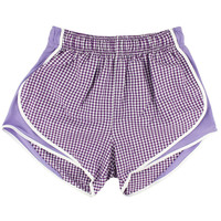 Lauren James Co Purple Gingham Shorties