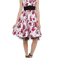 Black & White Floral Dress