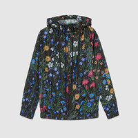 Gucci New Flora print nylon jacket