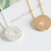 simple compass necklaces,mothers necklace, womens necklace,necklaces for girls,grandma necklaces