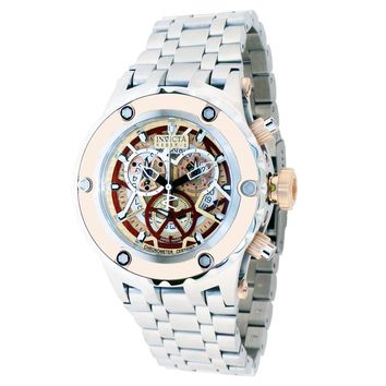 Invicta 13740 Men's Reserve Subaqua Noma Rose Gold Skeleton Dial Chronograph Dive Watch