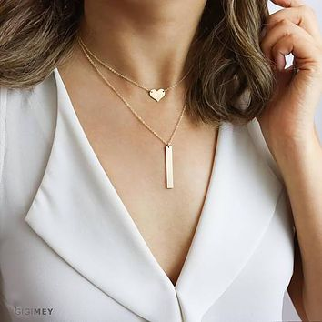 Dainty Layered Necklaces, Delicate Necklace Set,