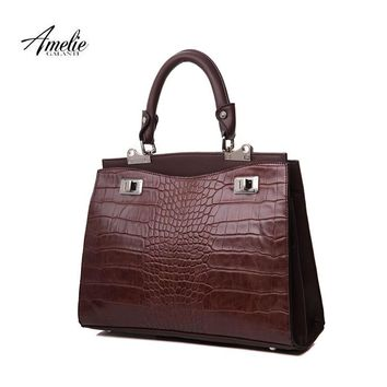 AMELIE GALANTI new totes bags women handbags vintage famous brands design serpentine hard fashion Interior compartment 2017