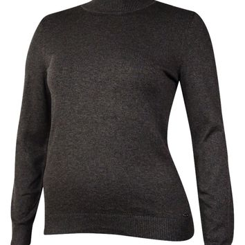 Calvin Klein Women's Mock Neck Long Sleeve Knit Sweater