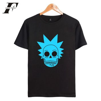 LUCKYFRIDAYF Rick And Morty Summer Gothic Cotton T-shirt Men Short Sleeve Print Casual Tee Shirt Homme Men/Women Tops Plus Size