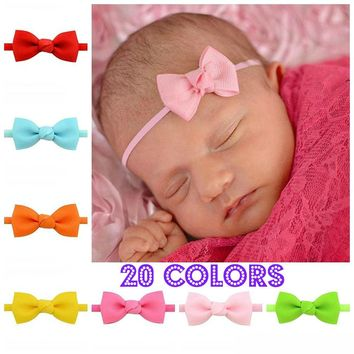 "Girls Set of 3, 2"" Ribbon Hair Bow Headbands, Nylon Hair Bow Headbands, You Choose"
