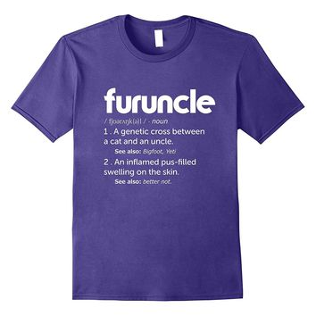 Mens Furuncle Definition T-shirt | For uncle Tshirt Yeti- Bigfoot