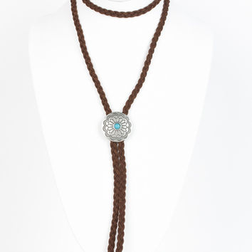 Circle Concho Wrap Necklace